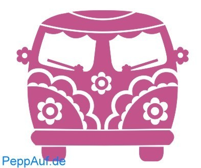 Love & Peace Bus - Stempel