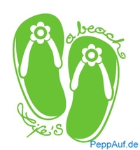 Love & Peace FlipFlops Stempel