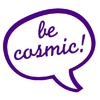 be cosmic-Sprechblase, lila, be cosmic-Velours-Serie