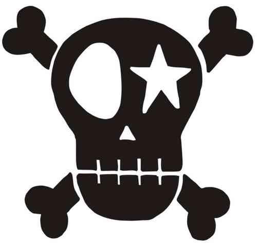 Skull Schwarz Velours Zum Aufbügeln Peppauf De