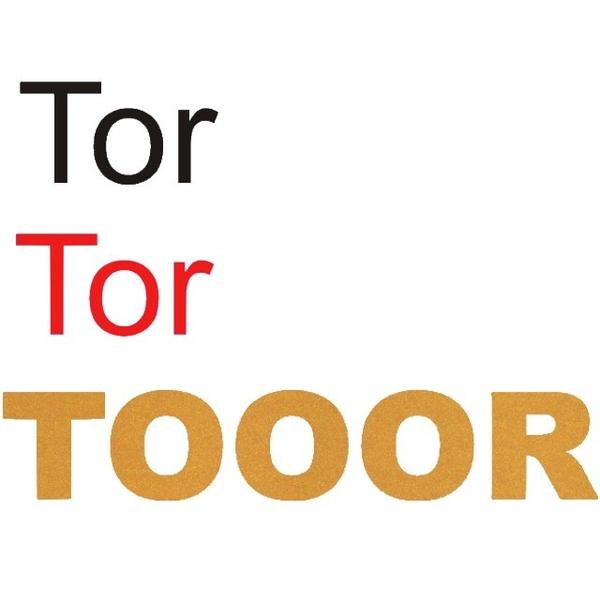 Tor Tor TOOR zum Aufbügeln in schwarz, rot, gold