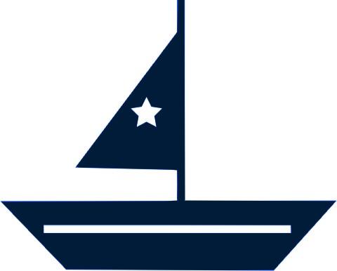 Segelboot zeichnung  Segelboot zur Seehundserie, marine, Velours-Motiv zum Aufbügeln ...