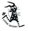 Frohe Ostern - Osterhase Stempel