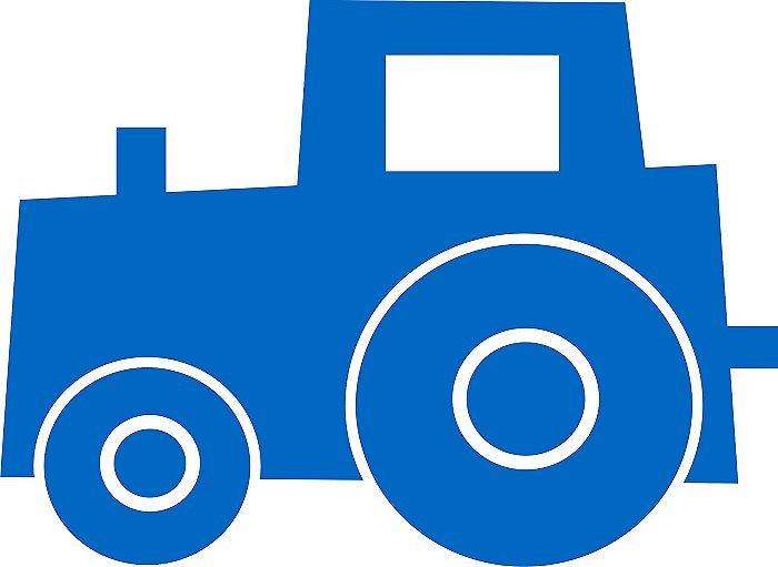 Traktor Bruno Blau Gross Pu Dorf Velours Motiv Zum Aufbugeln