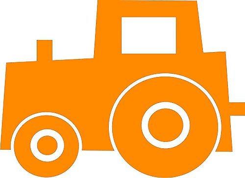 Traktor Bruno Orange Klein Pu Dorf Velours Motiv Zum Aufbugeln