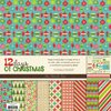 Scrapbook Papier-Set + Aufkleber, 12 days of christmas, My mind eye