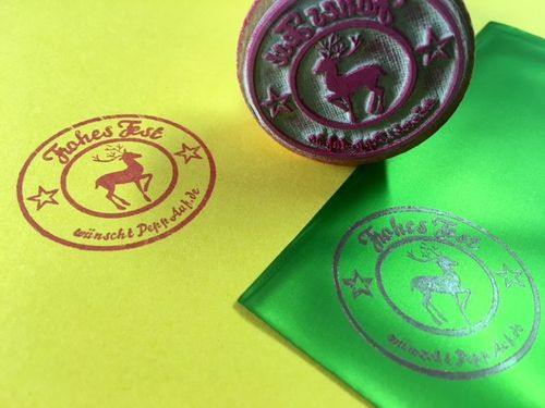 """Frohes Fest"" Stempel, personalisierbar"