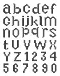 "Transparentes Stempelset ""Alphabet in Kreuzstich-Optik"", 180 x 140 mm"