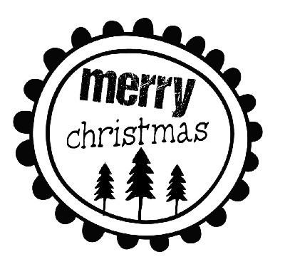 Holz-Stempel *Merry Christmas*, 50 x 47 cm - PeppAuf.de